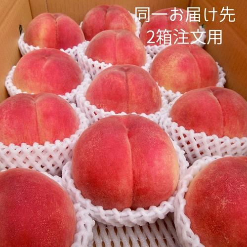 プレミアム 晩生桃-5キロ箱×2箱(同一お届け先用)