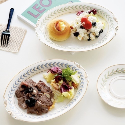 laurier retro dinner plate 2colors / 韓国 レトロ ローリエ プレート