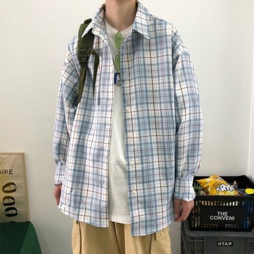 ルーズチェックシャツ BL6498