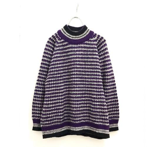 """ESPRIT SPORT"" High Neck Knit Pullover / エスプリ・ボーダーハイネックセーター"