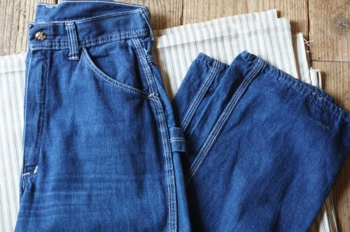 70's Blue Steel blue denim carpenter Pants