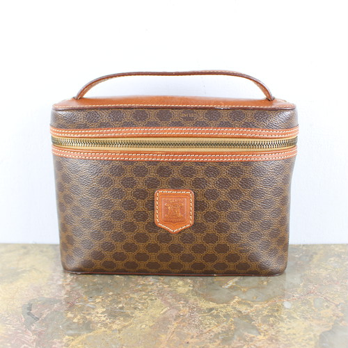 .OLD CELINE MACADAM PATTERNED BANITY BAG MADE IN ITALY/オールドセリーヌマカダム柄バニティバッグ 2000000046730