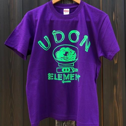 かせきさいだぁ UDON ELEMENT Tシャツ パープルグリーン