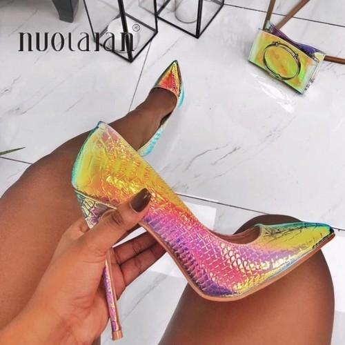 ♡送料無料♡ import Python ファッション ハイヒール パンプス【お取り寄せ】