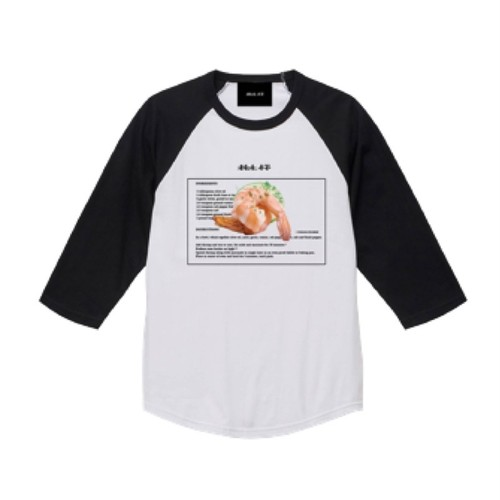 ILL IT - RECIPE RAGLAN T-SHIRT (WHT×BK)
