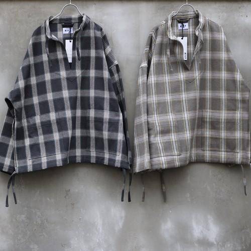 "KIIT ""Heavy Flannel Check Pullover Blouson"""