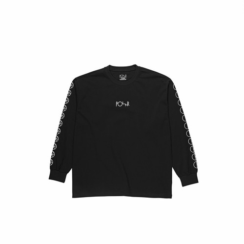POLAR SKATE CO (ポーラー) / RACING LONGSLEEVE -BLACK