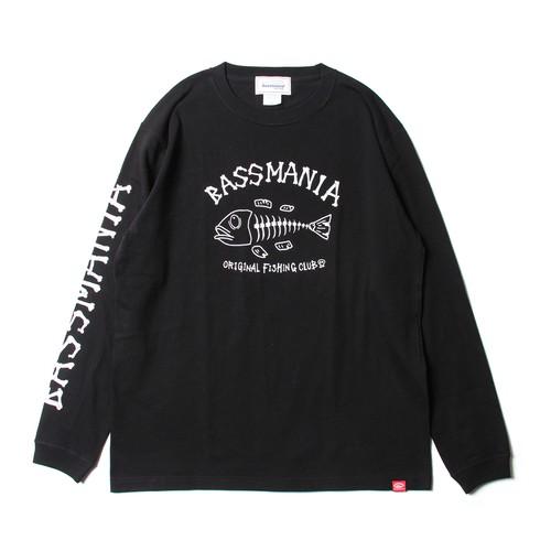 フィッシュボーンロングTシャツ 【BLK】