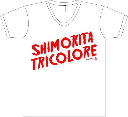 V.A「シモキタ・トリコロール」Tシャツ WHITE×RED