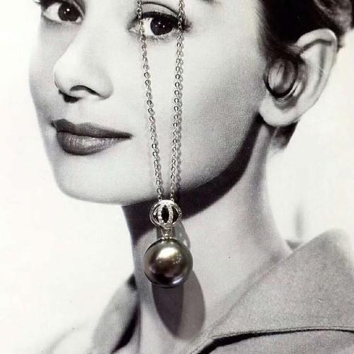 ネックレス スターリングシルバー 黒真珠 女性魅力 キュービックジルコニア ブランド ジュエリー オシャレ キラキラ 神秘