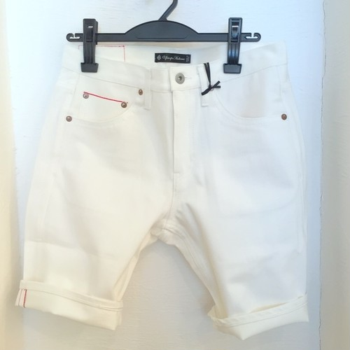 Selvage White Denim Short Pants White