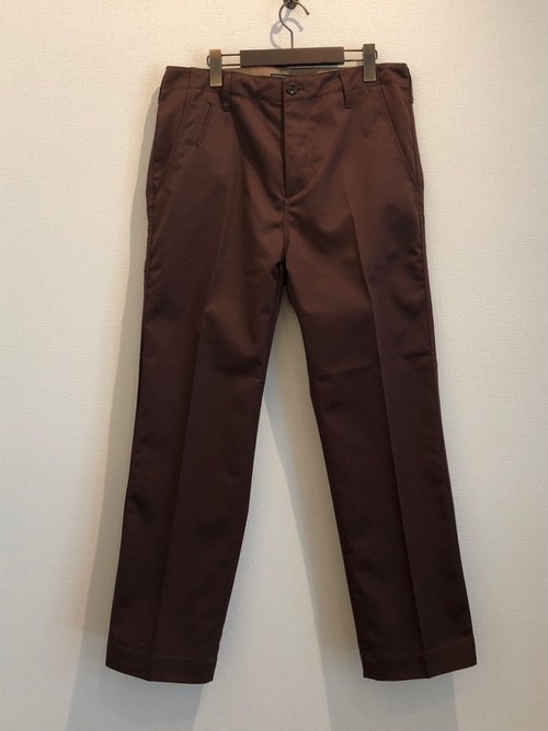 TWILL WIDE PANTS  (BROWN) / LOST CONTROL