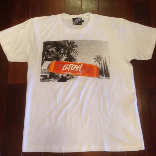 "LEFLAH / レフラー |  "" Deck Photo ""  Tee / White"