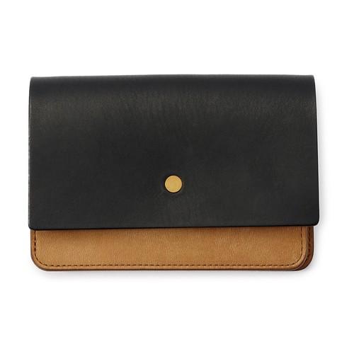 forme Hand wallet combi Liscio black
