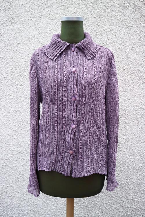 Purple pleats shirt