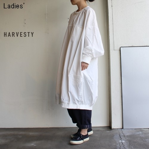 HARVESTY コットンツイルエッグワンピース A41802 (OFF WHITE)