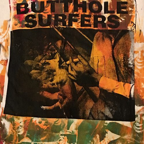 Vintage 80s BUTTHOLE SURFERS Hand Printed Tee
