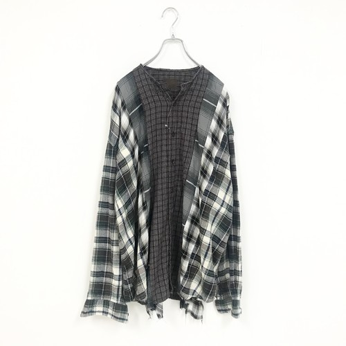 REMAKE CHECK SHIRT(GREY)