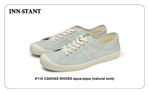#116 CANVAS SHOES aqua/aqua (natural sole) INN-STANT インスタント 【消費税込・送料無料】