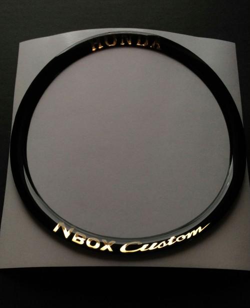 HONDA NBOX ステアリングセンターリング メッキ文字バージョン ポッティング加工 シール
