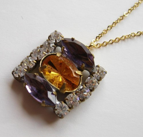 TheDelight antique Czech stone pendant(アンティーク チェコ ストーン ペンダント)⑰