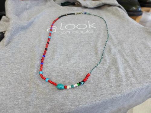 三つ編みワックスコード2*ホワイトハーツ8 アシメネックレス兼ブレス