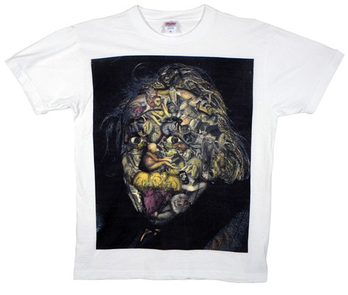 KOTA MIYAMOTO  Collage T-shirt『アインシュタイン × 猿』
