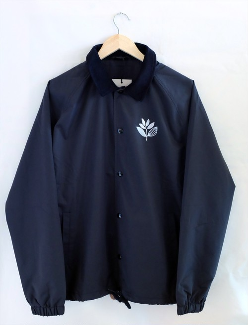 MAGENTA FA17 COACH JKT BLACK マゼンタ 襟コーデュロイ リフレクター コーチジャケット