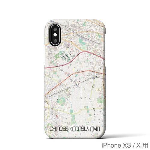 【千歳烏山】地図柄iPhoneケース(バックカバータイプ・ナチュラル)