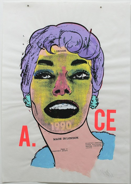 A.CE/'Attention Span' original paste up