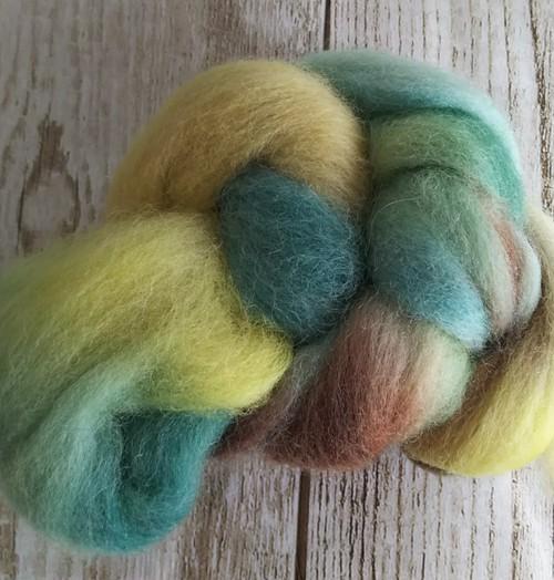 手染め羊毛ミニ レインボー染1102  約20g