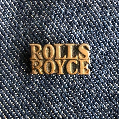 ROLLS ROYCE CAR LOGO SCRIPT PIN