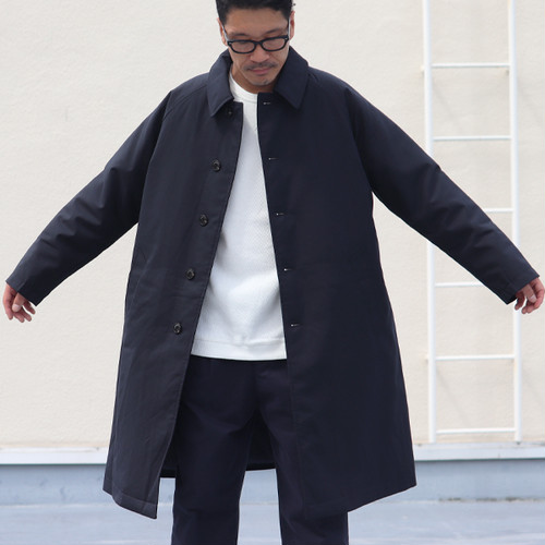SOLOTEX T/W THERMOLITE Soutien Collar Coat Navy