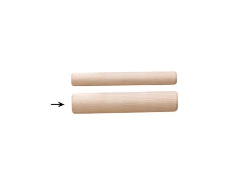 木製 「短めの餃子・焼売 めん棒 3Φ×14.3cm」 ポストIN発送対応商品