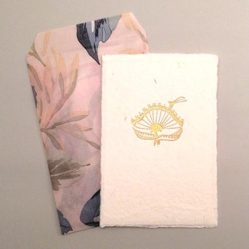 凸版印刷 カード 花の手漉き和紙 小毛氈櫻