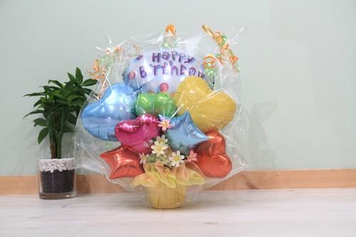 お誕生日のお祝いに卓上バルーンギフトH(バルーンアレンジ) 送料込み 引き取りの場合4,500円