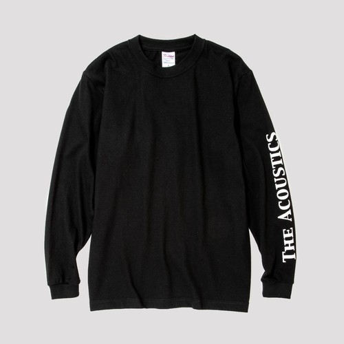 """THE ACOUSTICS"" Long Sleeve T-Shirts [black]"