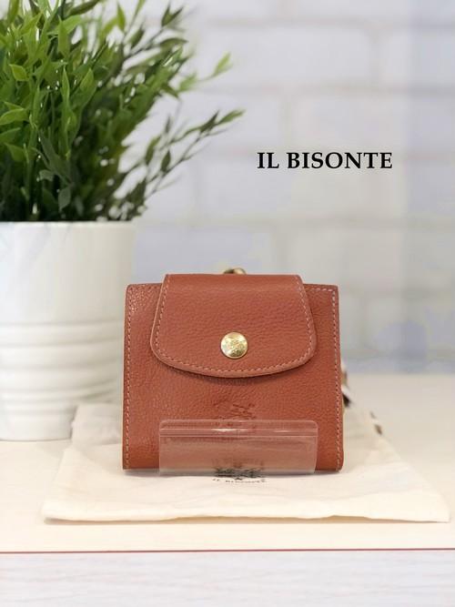 IL BISONTE / ガマ口二つ折り財布/9640(赤茶)