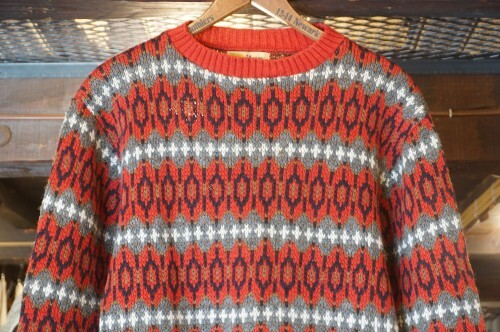 50's PURITAN Sportswear geometric pattern wool Sweater