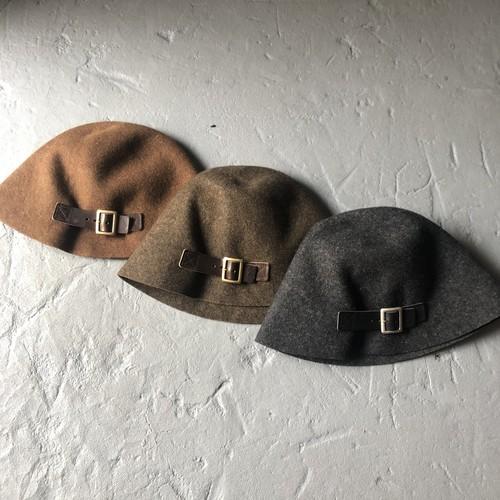 """Hender Scheme  """"felt belt hat"""""""