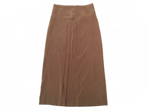 peach-skin center pleats skirt