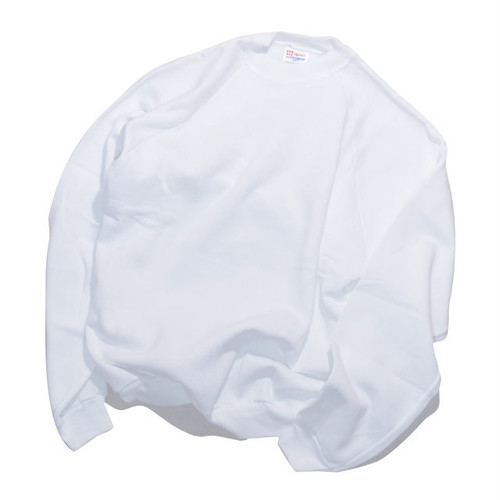 Deadstock★ Hanes ACTIVEWEAR White RAGLAN SWEAT