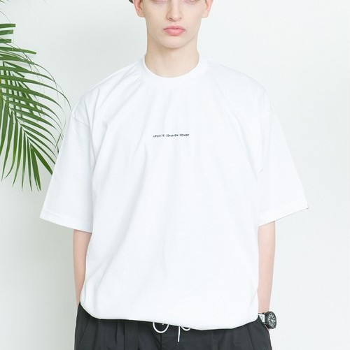 "SAY! / セイ!|  DRAWCODE TEE "" UPDATE COMMON SENSE "" white"