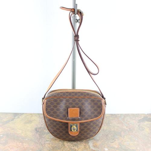 .OLD CELINE MACADAM PATTERNED SHOULDER BAG MADE IN ITALY/オールドセリーヌマカダム柄ショルダーバッグ 2000000048895