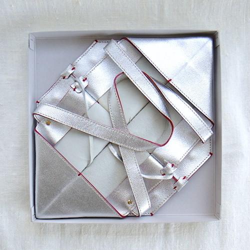 ORIGATA Tote -M- Metallic Silver