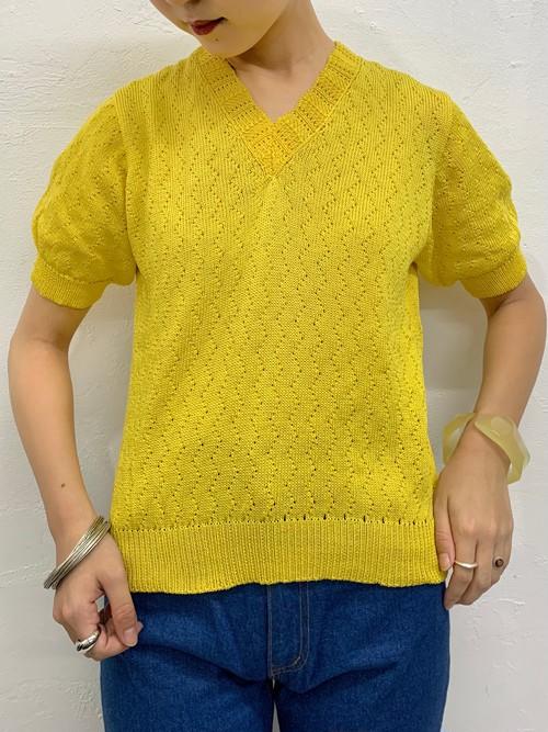 (TOYO) v-neck s/s knit tops