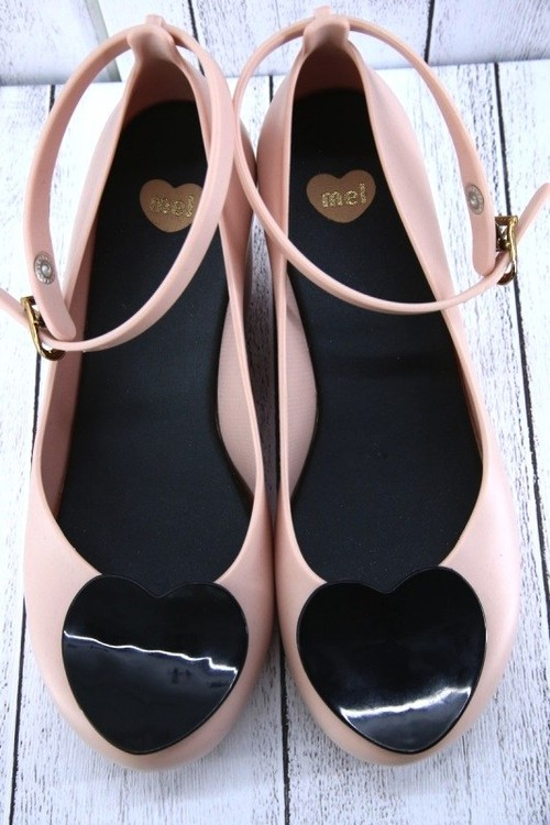 heart strap weadge shoes(pink)