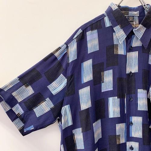 HAUPT ビスコースシャツ ブルー size M ドイツ製 メンズ 古着