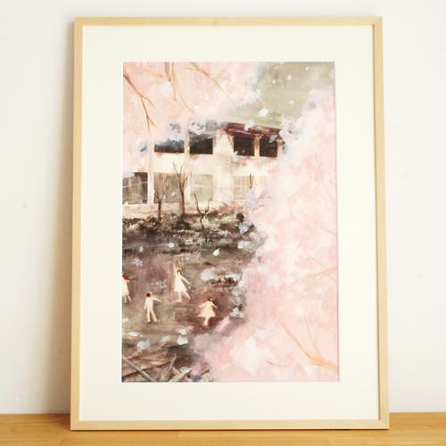 「桜」 日端奈奈子(hibata nanako)イラスト原画