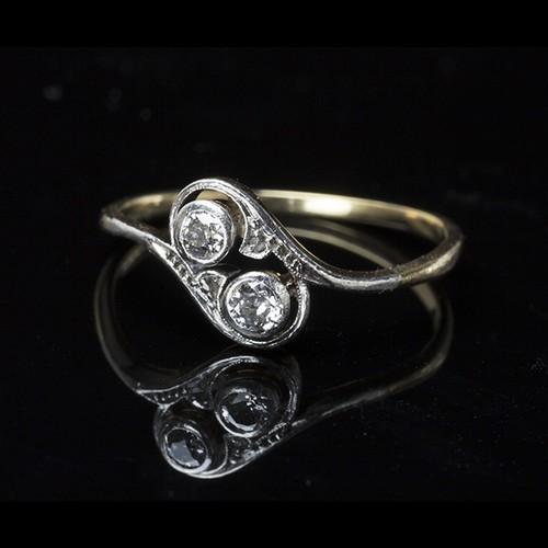 Belle Époque Toi et Moi Diamond Ring